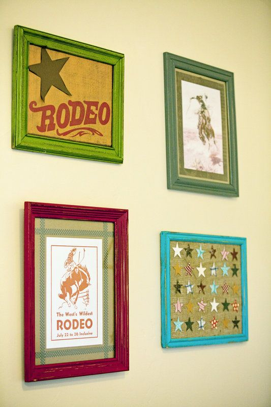 wall collage, cowboy room, vintage cowboy, vintage cowboy nursery baby stetson's room Photo By 5 Crow Photo