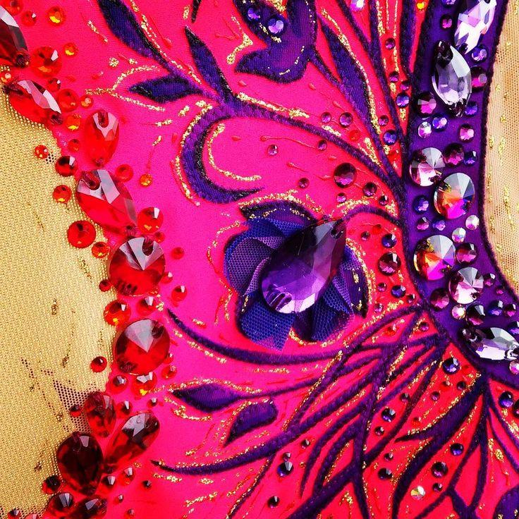 """Купальник """"Sunset flowers"""" #leotards #gimnastics #rhythmicgymnastic #купальникдляхудожественнойгимнастики #художественнаягимнастикановосибирск #пошивкупальниковдлягимнастики"""