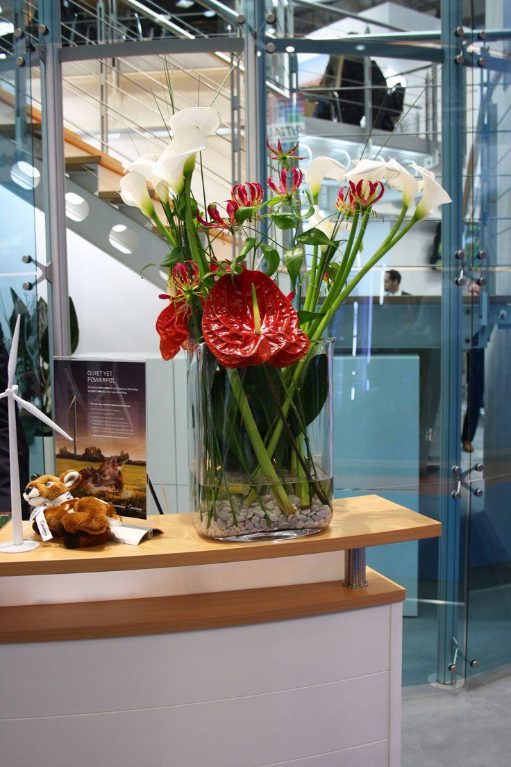 Anthurie, Blumendekoration für Counter, Messedekoration auf der Hamburg Messe, flower decoration, fairy Hamburg