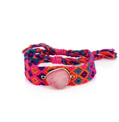 Wayuu Armband met Edelsteen 105 - €39,95