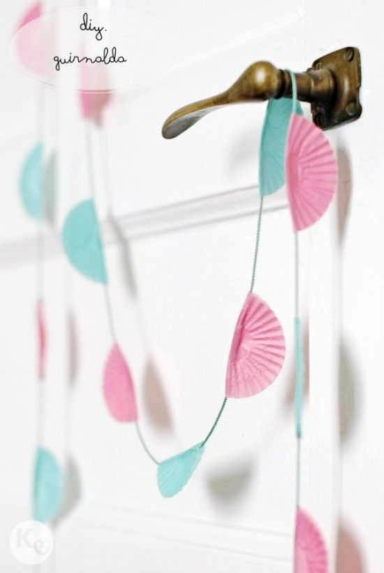 Cupcake Liner Bunting and other decorative ideas using cupcake liners