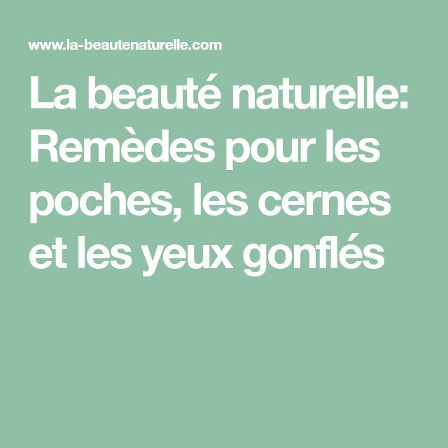 La beauté naturelle: Remèdes pour les poches, les cernes et les yeux gonflés