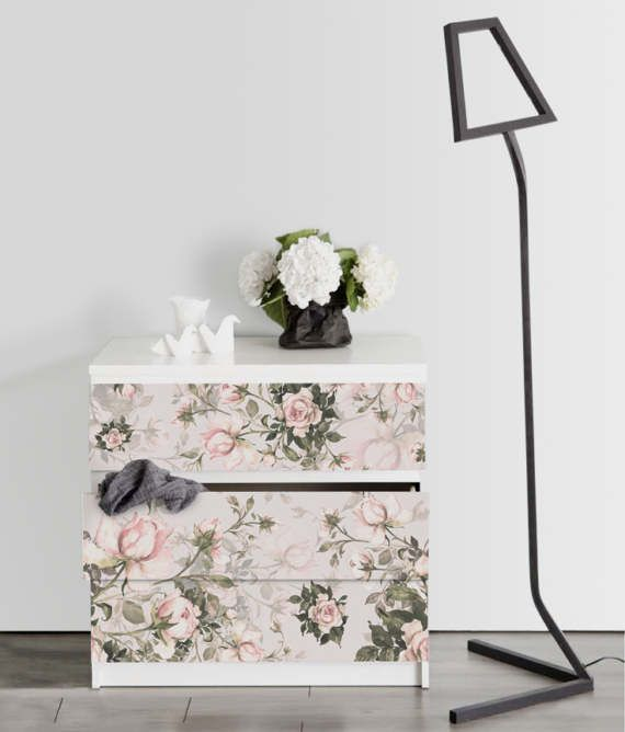 Pale Roses Removable Wallpaper