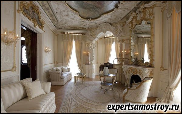 Барокко дворцовый стиль в домашнем интерьере