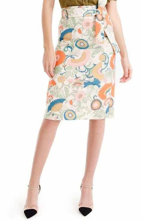 J.Crew Witt Mikado Twill Pencil Skirt (Regular & Petite)