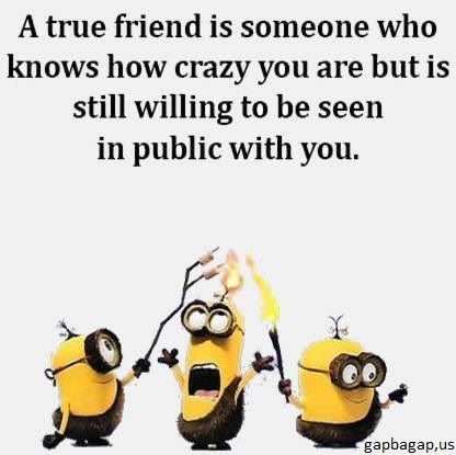 #Funny #Minion #Quote About Crazy #Friends