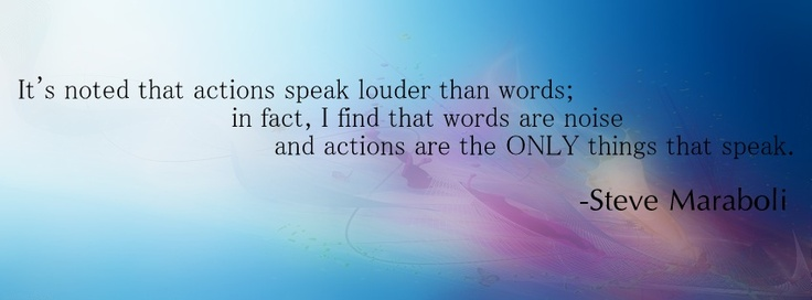 Actions And Words Quotes: 17 Best Images About Facebook Covers On Pinterest