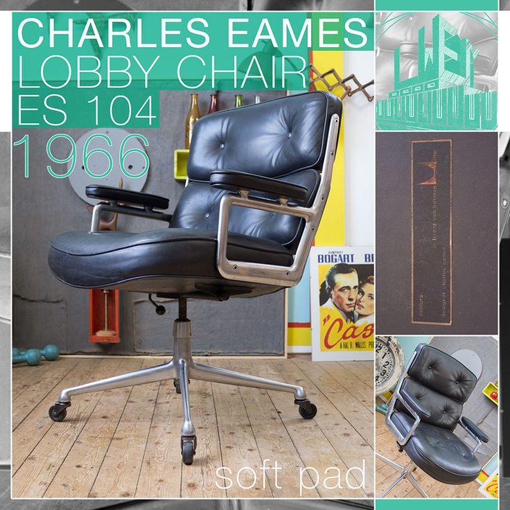Vintage MID Century Modern Lobby Chair RAY Charles Eames Sessel Herman Miller | eBay