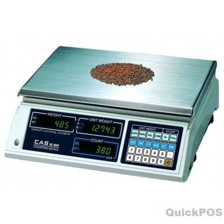 CAS SC-10 Counting Scale - CASSC-10 SC Series is a simple Counting Scale that's makes counting as simple as 1,2,3. Great for use in manufacturing, parts shops, hardware stores, etc. These parts counting scales have been designed with CAS reliability, under rigid quality control and with outstanding performance-POS equipment and POS hardware
