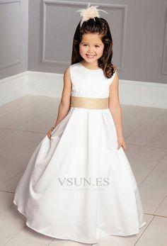 Vestido+niña+ceremonia+Joya+14+Años+de+edad+Hasta+el+suelo+Pera+Satén+Corte+princesa
