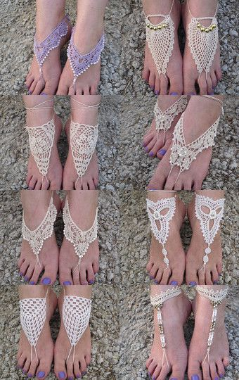 Barefoot beige sandals by Dragana Mitrovic on Etsy--Pinned with TreasuryPin.com