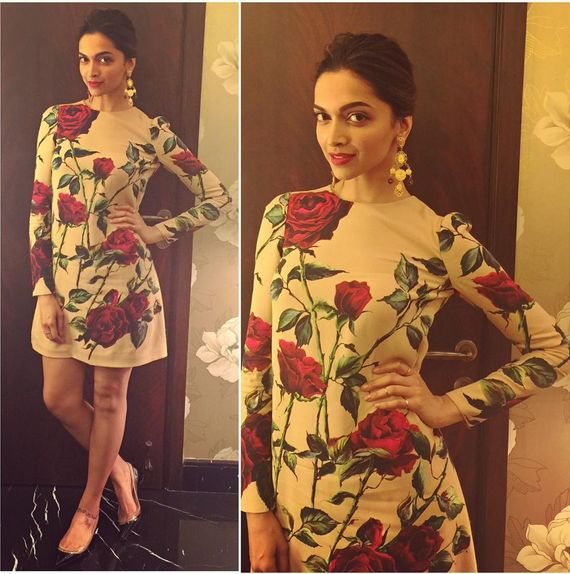 Deepika Padukone In An Embroidered Top