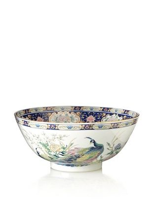 61% OFF Dynasty Gallery Peacock Bowl (Blue/White)