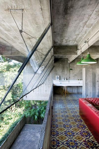 Paulo Mendes da Rocha  in São Paulo, Brazil-where he just restored a house he'd built decades before.