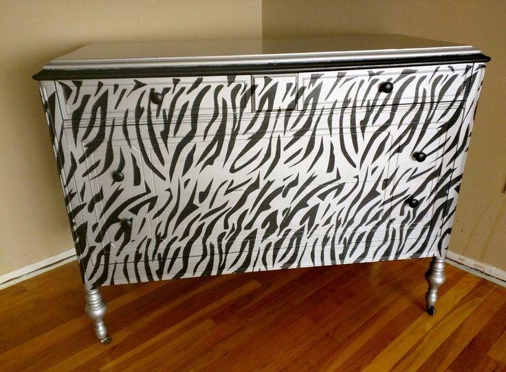Die besten 25+ Zebra dresser Ideen auf Pinterest Zebramuster - schlafzimmer zebra
