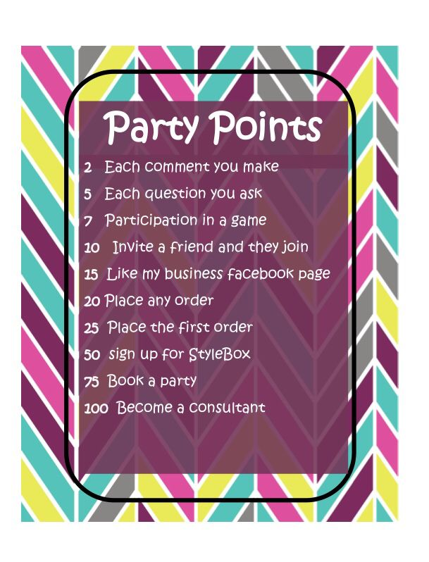 Jamberry party points