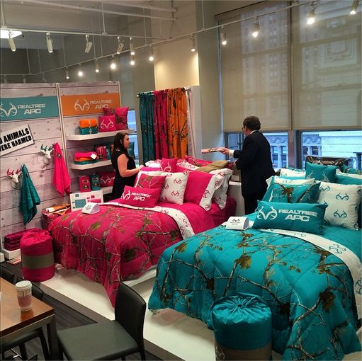 Coming straight to y 39 all from home fashions market week in new york city realtree camo bedding - New york girls room ...