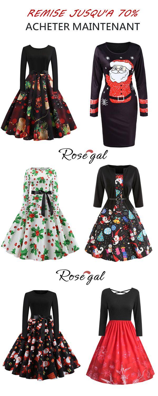 Robe De Noel Femme Pas Cher.70 Remise Pour Les Robes Rosegal Noël Femme Robe Mode