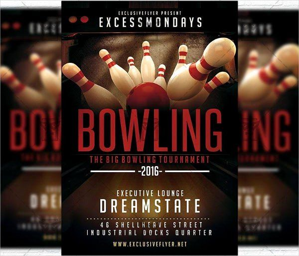 Bowling Flyer Template Free Elegant 9 Bowling Party Flyers Design Templates Flyer Template Free Flyer Templates Flyer Design Templates