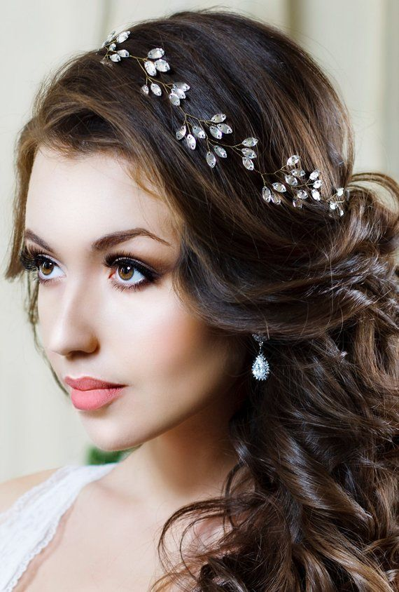 Bridal Headband Crystal Headpiece Crystal Tiara Wedding Hair