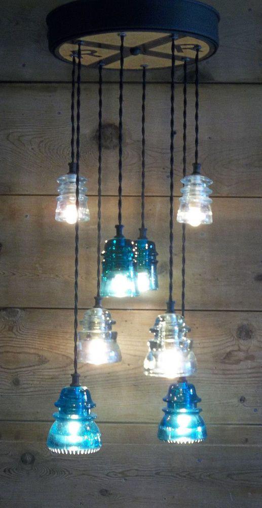 Best 25 insulator lights ideas on pinterest glass for Telephone insulator light fixture