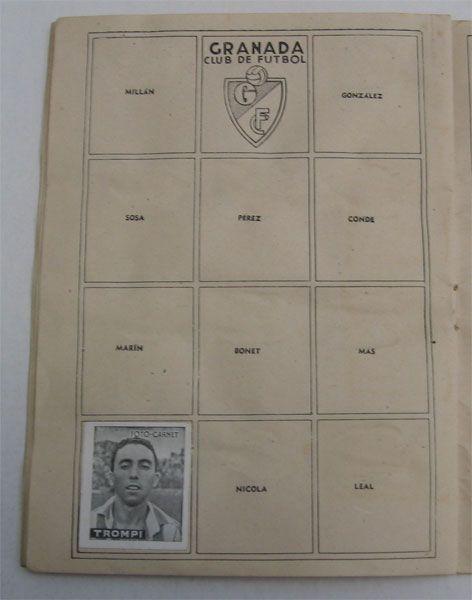 Granada C.F. Cromos Editorial Cisne 1942-43. Liga Española.