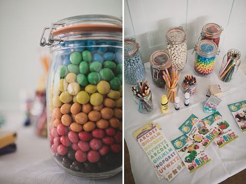 Kids activity table for a wedding with children