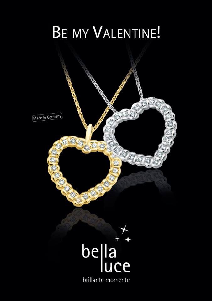 """""""Be my Valentine"""" - Schenken Sie Ihrer Liebsten zum Valentinstag wunderschönen Diamantschmuck von bellaluce. Entdecken Sie die wunderschöne Welt der Diamanten - Ringe, Ketten und vieles mehr auf unserer Seite www.bellaluce.de #bellaluce #diamantschmuck #valentinstag"""