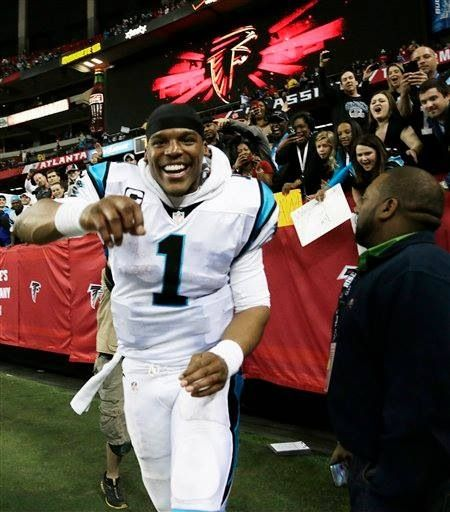 Cam Newton first time for everything! ATL and I says Child Boo Bye Carolina! Rock'er Bye Babies!