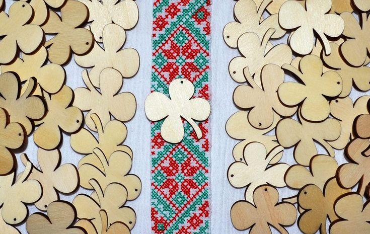 martisoare handmade trifoi norocos