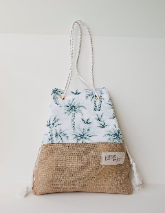Special edition Beach Bag Beach Tote / Palm Print Tropical