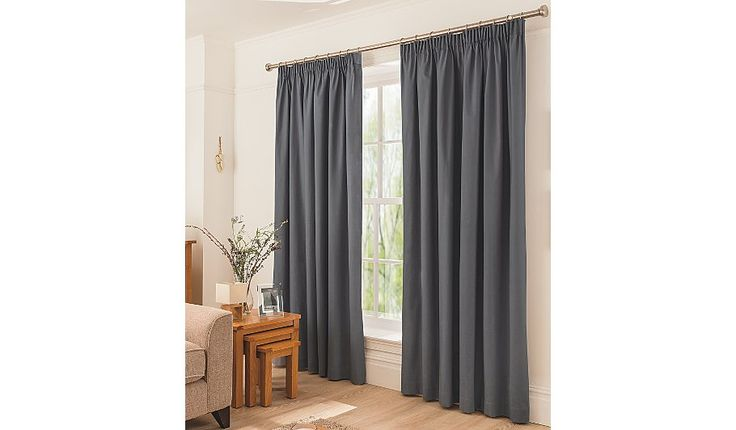 Buy George Home Charcoal Pencil Pleat Curtains from our Curtains range today from George at ASDA.