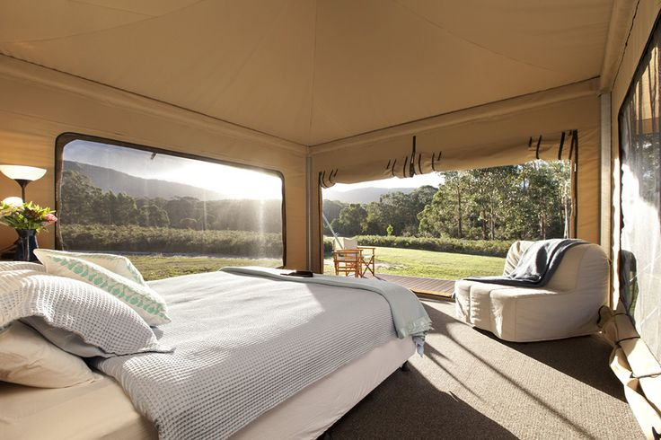 Our beautiful tents at Cave Hill Creek • Beaufort, Victoria