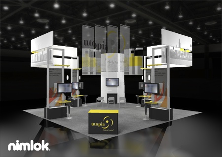 Nimlok designs and builds technology exhibits and trade show booths. We showcased Utopia's products and services with a large scale custom booth d…