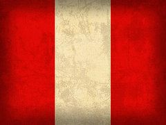 Peru Flag Art - Peru Flag Vintage Distressed Finish by Design Turnpike