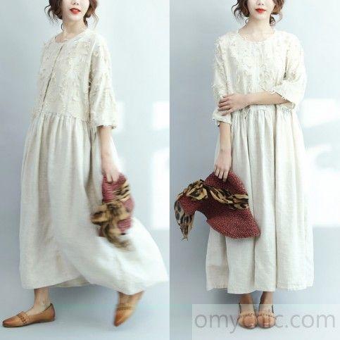 2017 белые льняные платья нестандартного размера случайные длинные льняные платья макси бегущие платья