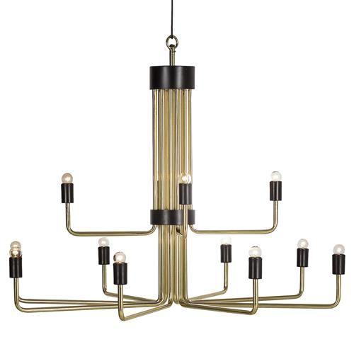 The 25 best brass chandelier ideas on pinterest paint brass montmartre industrial loft 12 light brass chandelier aloadofball Images