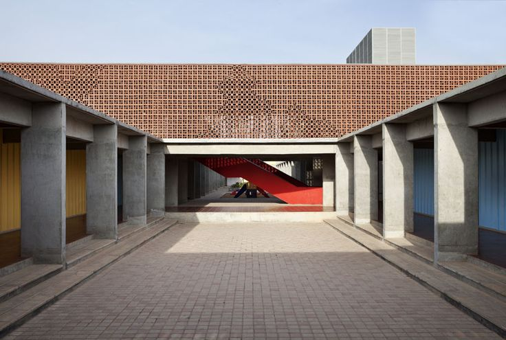 Built by Khosla Associates in Bangalore, India with date 2013. Images by Shamanth Patil . The brief called for us to design a franchise for a popular north Indian school chain called Delhi Public School.  Si...