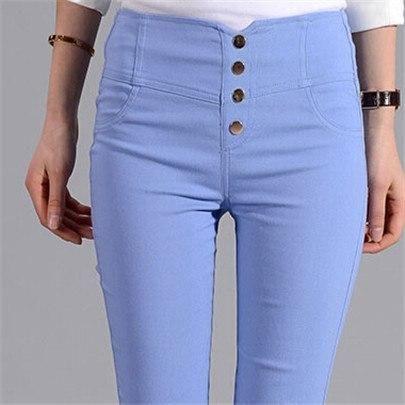 Visnxgi Button Leggings Skinny Leggins Women Pencil Trousers Plus Size High Waist Legging Slim Ladies Pantalones Clothes K131 De
