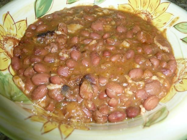 3/26/13 Borracho Beans - I worked with what I had for this recipe and it turned out fantastic.  I left out the jalapenos, cilantro, bacon drippings and beer and chopped up a thick slice of ham in place of the ham hocks.  Used all the spices, plus about 1/4 tsp. oregano. We loved this!