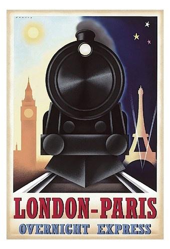 cool vintage train poster
