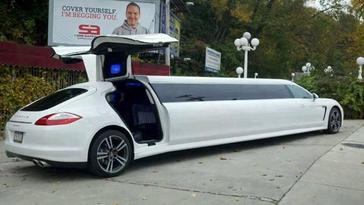 Porsche limo Wedding SUV, Wedding Limo, Wedding Transportation
