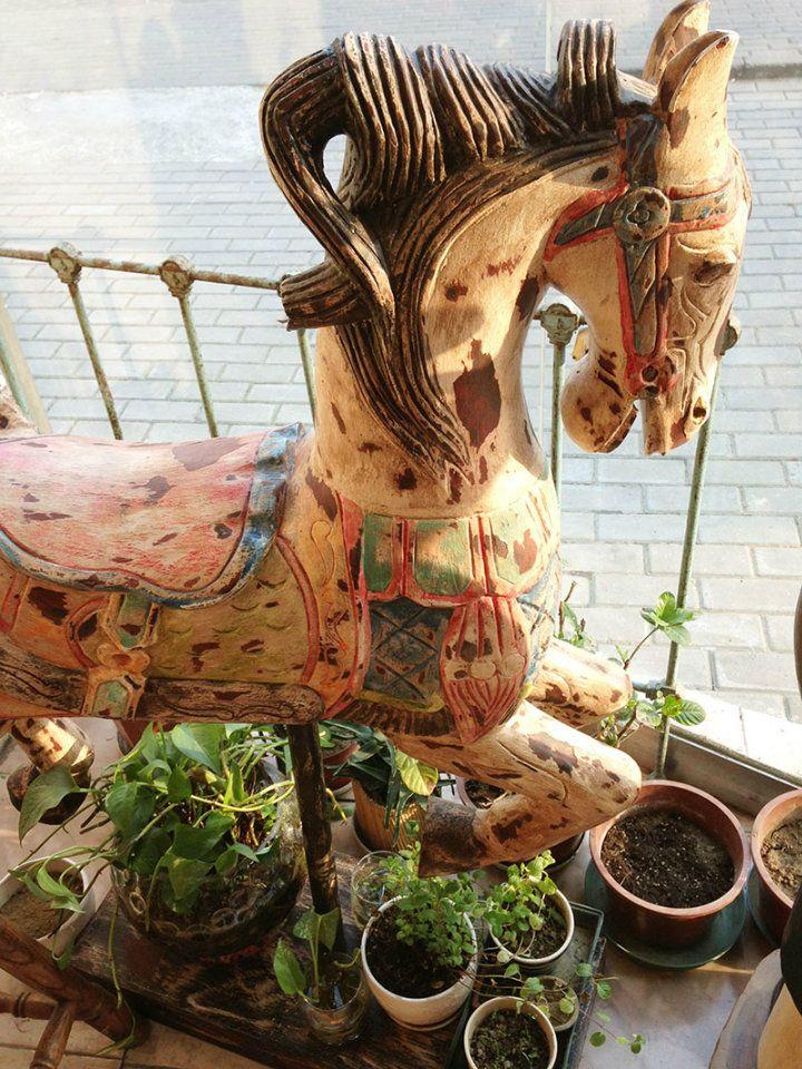 Таиланд послал прямой VINTAGE ретро чувство делать старый ручной резьбой деревянная лошадь делать съемки фон - глобальная станция Taobao