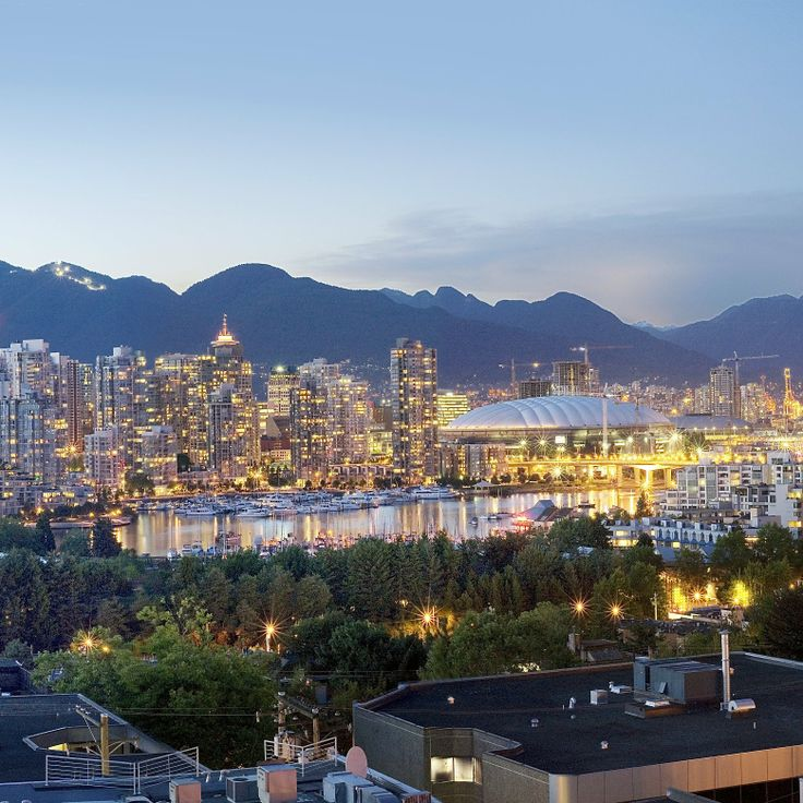 Downtown Vancouver at twilight