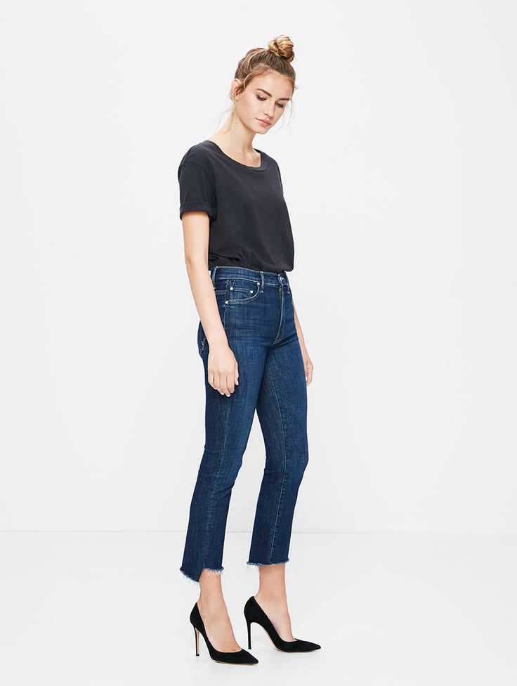 MOTHER DENIM | Insider Crop Step Fray - NEW ARRIVALS