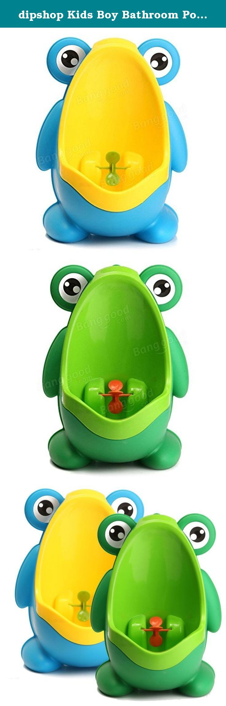 dipshop Kids Boy Bathroom Potties Children Early Education Trainning Frog Potties Remova ( Blue ). Kids Boy Bathroom Potties Children Early Education Trainning Frog Potties Removable Urinal : It can cultivate baby to form a habit of pee independently from childhood. Urine groove separation design and light surface makes the item easy to clean. Environmentally friendly material, nontoxic and no peculiar smell. Frog shape and rotating windmill improves your babies' interest. Strong sucker…