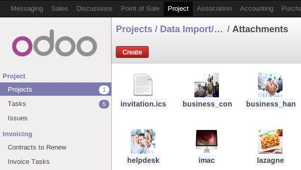 Odoo allows you to manage documents in a kanban view