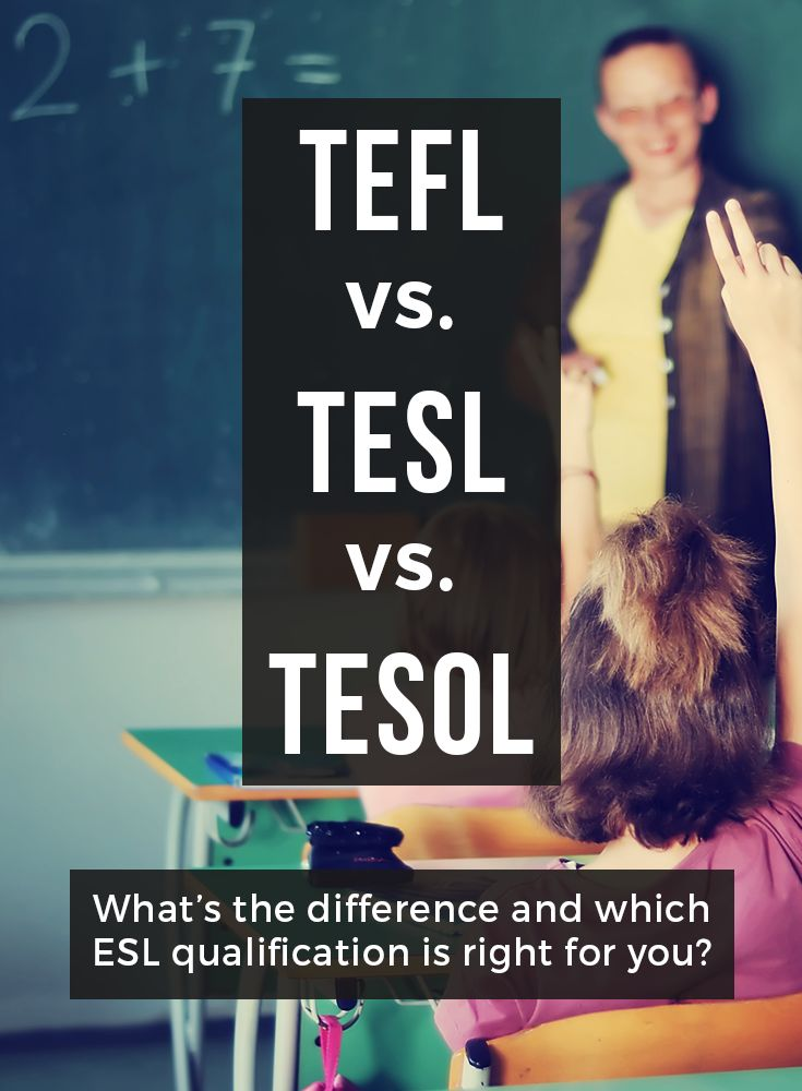 There's a lot of ESL teaching qualifications out there. What's the difference and which certificate is right for you?