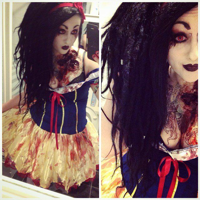 Pin for Later: 43 Halloween DIY Zombie Costumes That Are Completely Petrifying Snow White Zombie