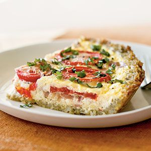 Tomato Tart: The crust is brown rice. And it has prosciutto and tomato ...